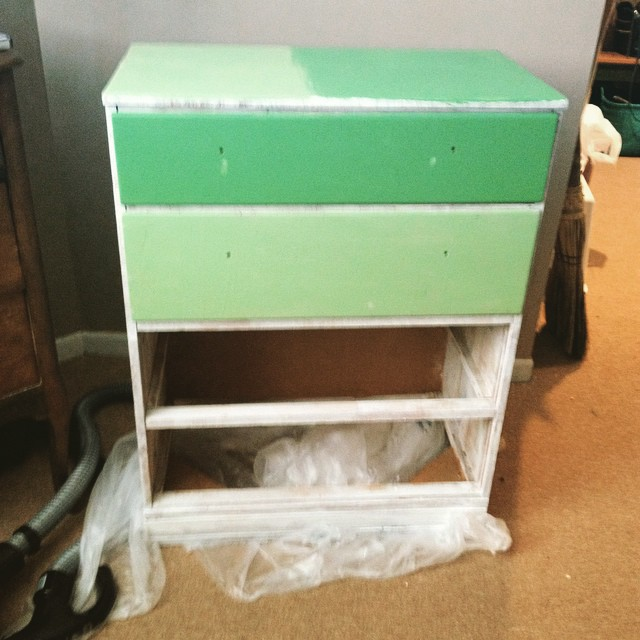 1502 LS paint green dresser IG